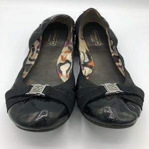 Coach Dwyer Crinkle Patent Flats